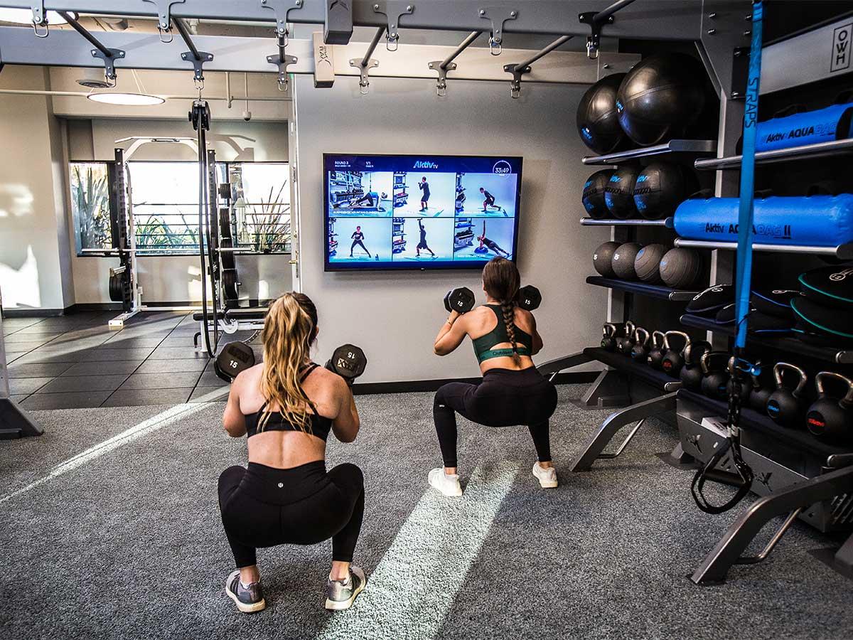 Aktiv TV digital fitness training solution for gyms