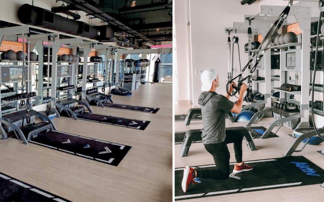 Aktiv Virtual Bay workout using Suspension Straps on Gym Rax at Kenect Nasvhille Fitness Center