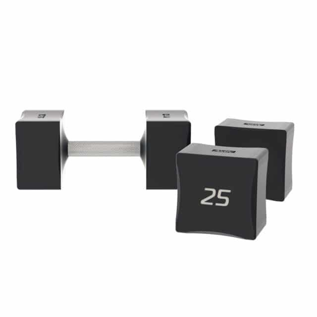 black square dumbbell set for gym or home workouts