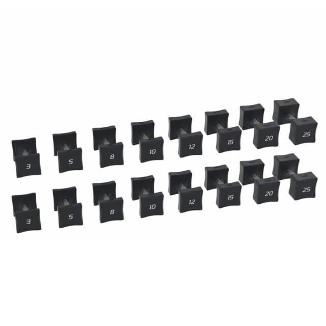 square dumbbells 3-25lb set for gym or home workouts