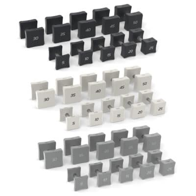 aktiv forma square dumbbell sets grey white and black options for home gym